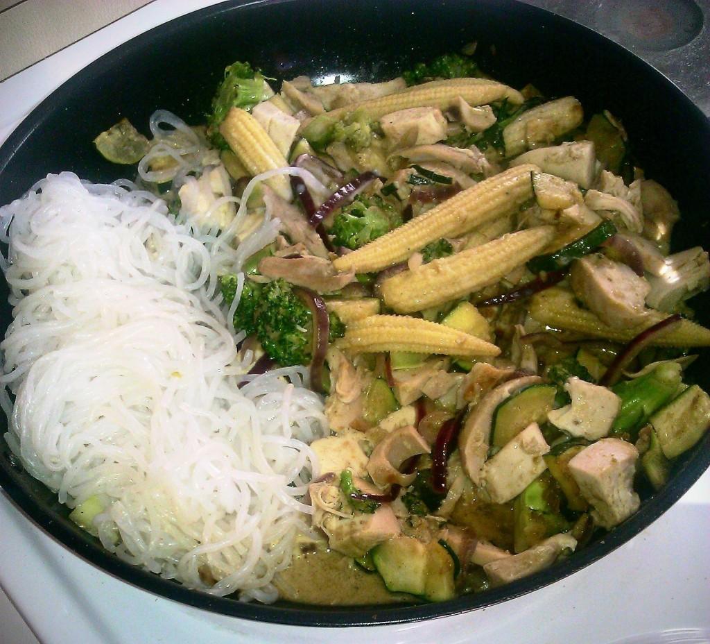 Green curry thai